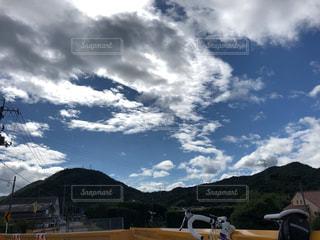 空,屋外,雲,山,ロードバイク,秋空,日中