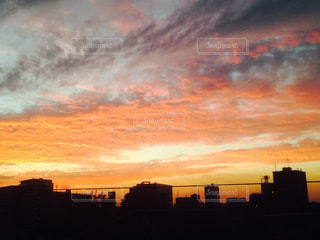 空,秋,雲,夕方,池袋,秋空