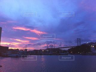 空,夕暮れ,秋空,関門海峡