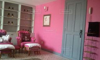 ピンク,部屋,壁,旅行,家具,ベトナム,東南アジア,ホーチミン,スパ,フレンチヴィラ