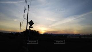 春の夕景の写真・画像素材[2005012]