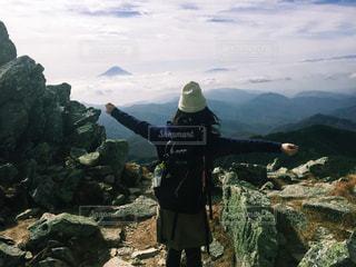 金峰山の頂上から見た富士山の写真・画像素材[1510918]