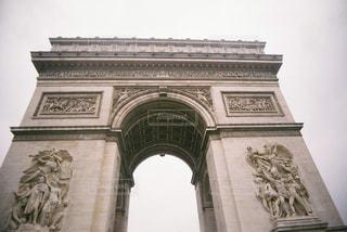 建物,屋外,白,曇り,凱旋門,フランス,パリ,石,ホワイト