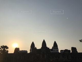 空,屋外,太陽,夕暮れ,光,カンボジア,アンコールワット,シェムリアップ