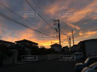 風景,空,秋,雲,朝焼け,秋空