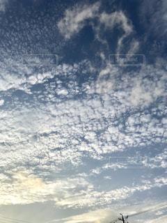 空,夕暮れ,うろこ雲,秋の空