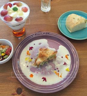 秋,食事,料理,木目,食欲,エディブルフラワー
