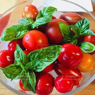 食べ物,鮮やか,ガラス,トマト,野菜,新鮮,バジル,食欲