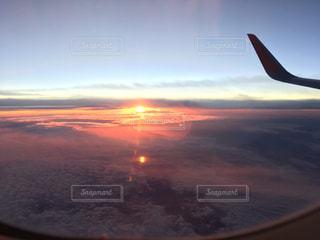 自然,空,秋,夕日,太陽,雲,秋空
