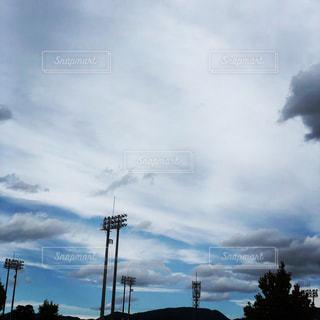 空,野球,秋空,秋の空,ナイター球場