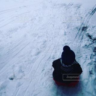 冬,雪,白,子供,人,ホワイト,そり