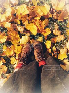 秋色コーデは足元からの写真・画像素材[1599601]
