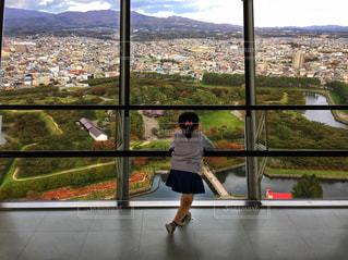五稜郭タワーから五稜郭公園を望むの写真・画像素材[1616480]