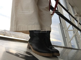 五稜郭タワーにて足元の写真・画像素材[1619053]