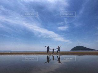 父母ヶ浜と家族の写真・画像素材[1621940]
