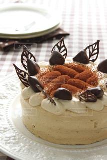 マロンケーキ。マロニエ。手作りケーキ。の写真・画像素材[1631973]