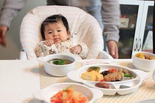 お食い初めと赤ちゃんの写真・画像素材[1644305]