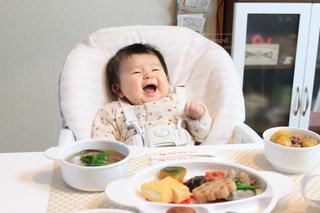 お食い初めと赤ちゃんの写真・画像素材[1644311]