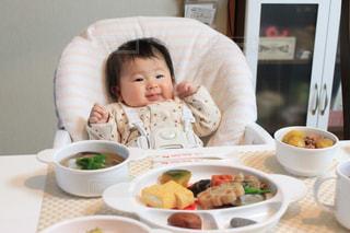 お食い初めと赤ちゃんの写真・画像素材[1644314]