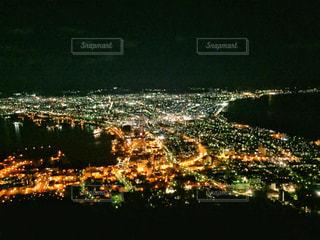 夜の街の景色、函館山からの夜景の写真・画像素材[1680231]