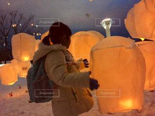 函館、五稜郭公園、ランタン、ライトアップの写真・画像素材[1680266]