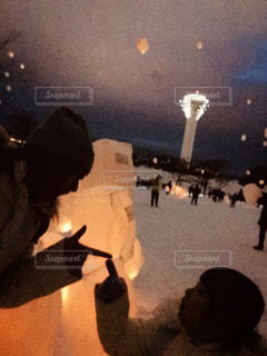 五稜郭公園、ランタン、ライトアップの写真・画像素材[1680272]