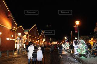 函館クリスマスイルミネーション、赤レンガ倉庫の写真・画像素材[1691345]