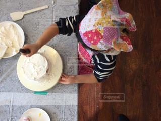 ケーキ作りの写真・画像素材[1696150]