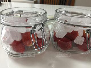 赤,瓶,苺,健康的,健康,手作り,レッド,キュート,保存瓶,複数,インスタ,氷砂糖,便秘解消,途中,インスタ映え,苺酢