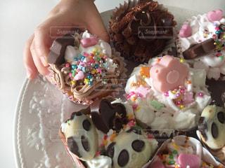 デコカップケーキの写真・画像素材[1777207]