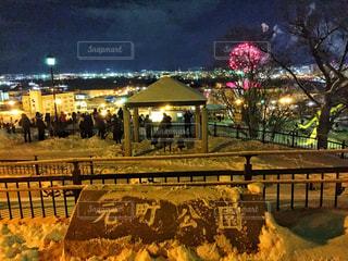 夜空に花火のグループ、元町公園の写真・画像素材[1783103]