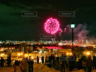 函館の花火の写真・画像素材[1792741]