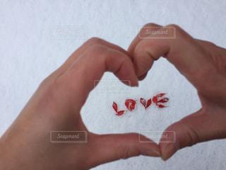 冬,紅葉,LOVE,雪,赤,白,手,ハート,メッセージ