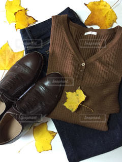 ファッション、秋、置き画の写真・画像素材[2673278]
