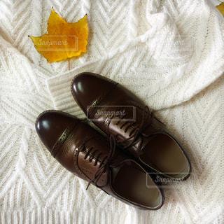 秋の革靴コーデの写真・画像素材[2673618]