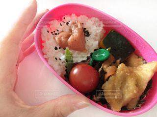 食べ物の皿を持つ お弁当の写真・画像素材[3189323]