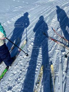 自然,風景,冬,森林,木,雪,屋外,親子,歩く,山,影,シルエット,人,ひとり,スキー,運動,ゲレンデ,ハイキング,冒険,初,斜面,ウィンタースポーツ,はじめて,日中,初心者,履物,散策,トレッキングポール,3人,歩くスキー,スポーツ用品,ノルディックスキー,ハイキング機器,クロスカントリースキーヤー,スキーポール