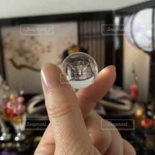 指ハート ビー玉 ひな祭り ひな飾りの写真・画像素材[4208727]