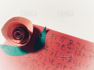 母の日の手書きメッセージカードの写真・画像素材[4400305]