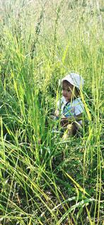 子ども,風景,屋外,緑,草,人物,人,赤ちゃん,幼児,草木,人間の顔