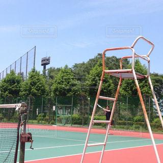 テニス,秋空