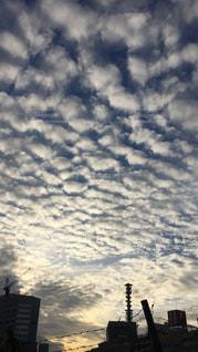 空,秋,東京,雲,うろこ雲,夕空,秋空,市ヶ谷,千代田区