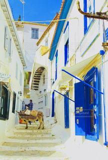 建物,白,壁,ギリシャ,地中海