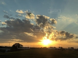 自然,風景,空,雲,夕焼け,朝焼け,ポジティブ,秋の空