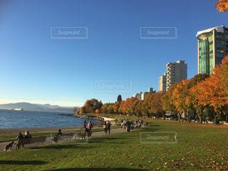 空,カナダ,バンクーバー,秋空,Canada,Vancouver,English Bay