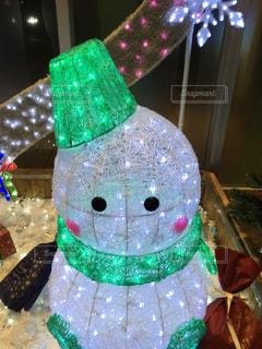 白,かわいい,イルミネーション,クリスマス,雪だるま,ホワイト,インスタ映え