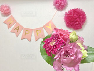 花,パーティ,ピンク,ガーランド