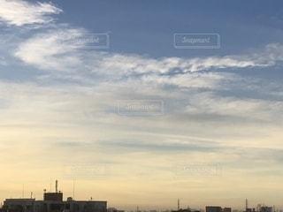 風景,空,屋外,夜明け