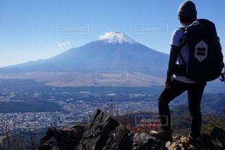 雄大な富士山の写真・画像素材[1593712]