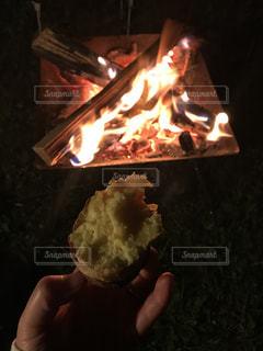 食べ物,自然,屋外,焼き芋,料理,焚き火
